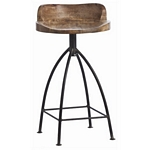 Arteriors Home Henson Wood / Iron Swivel Counter Stool