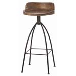 Arteriors Hinkley Wood/Iron Barstool