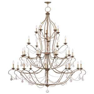 Livex Lighting Chesterfield Chandelier Antique Gold Leaf 6459-48