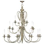 Livex Lighting Caldwell Chandelier Antique Brass 5179-01