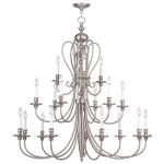 Livex Lighting Caldwell Chandelier Brushed Nickel 5179-91