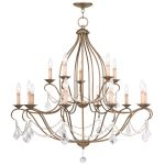 Livex Lighting Chesterfield Chandelier Antique Gold Leaf 6429-48