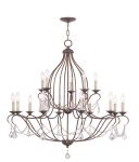 Livex Lighting Chesterfield Chandelier Hand Applied Venetian Golden Bronze 6429-71