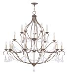 Livex Lighting Chesterfield Chandelier Hand Applied Venetian Golden Bronze 6439-71