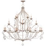Livex Lighting Chesterfield Chandelier Hand Painted Antique Silver Leaf 6439-73