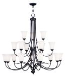 Livex Lighting Ridgedale Chandelier Black 6479-04