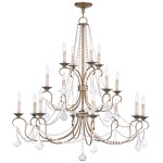 Livex Lighting Pennington Chandelier Antique Gold Leaf 6520-48