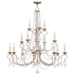 Livex Lighting Pennington Chandelier Hand Painted Antique Silver Leaf 6520-73