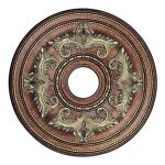 Livex Lighting Ceiling Medallions Ceiling Medallion Palacial Bronze with Gilded Accents 8200-64