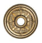 Livex Lighting Ceiling Medallions Ceiling Medallion Hand Painted Vintage Gold Leaf 8200-65