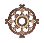 Livex Lighting Ceiling Medallions Ceiling Medallion Verona Bronze with Aged Gold Leaf Accents 8216-63