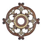 Livex Lighting Ceiling Medallions Ceiling Medallion Palacial Bronze with Gilded Accents 8216-64