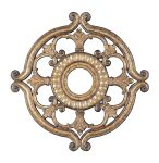 Livex Lighting Ceiling Medallions Ceiling Medallion Hand Painted Vintage Gold Leaf 8216-65