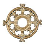 Livex Lighting Ceiling Medallions Ceiling Medallion Hand Painted Vintage Gold Leaf 8218-65