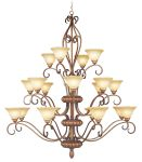Livex Lighting Bistro Chandelier Venetian Patina 8289-57