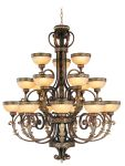 Livex Lighting Seville Chandelier Palacial Bronze with Gilded Accents 8539-64