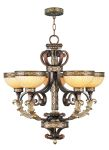 Livex Lighting Seville Chandelier Palacial Bronze with Gilded Accents 8545-64
