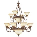 Livex Lighting Sovereign Chandelier Crackled Greek Bronze with Aged Gold Accents 8608-30