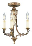 Livex Lighting Bristol Manor Convertible Chain Hang/Ceiling Mount Palacial Bronze with Gilded Accents 8836-64