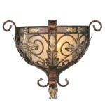 Livex Lighting Pomplano Wall Sconce Palacial Bronze with Gilded Accents 8841-64