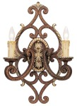 Livex Lighting Seville Wall Sconce Palacial Bronze with Gilded Accents 8862-64