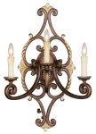 Livex Lighting Seville Wall Sconce Palacial Bronze with Gilded Accents 8863-64