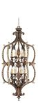 Livex Lighting Seville Foyer Palacial Bronze with Gilded Accents 8866-64