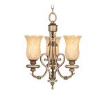 Livex Lighting Bristol Manor Mini Chandelier Palacial Bronze with Gilded Accents 8877-64
