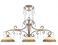Livex Lighting La Bella Island Hand Painted Vintage Gold Leaf 8883-65