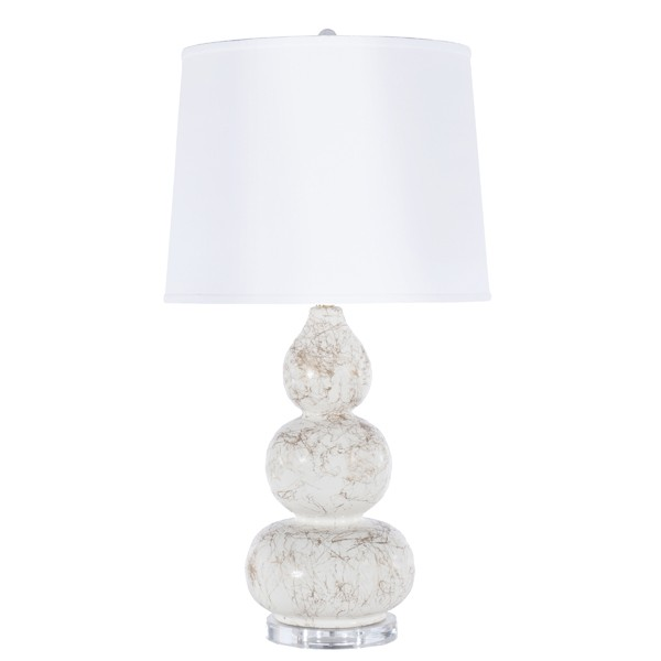 Worlds Away Delaney White Table Lamp