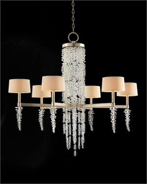 John richard lighting Floor The Classy Cottage John Richard Cascading Crystal Waterfall Six Light Chandelier Ajc8885